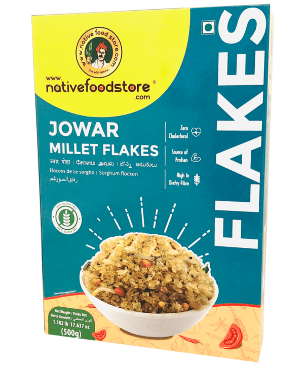 Native Food Store Jowar Millet Flakes - Asijah Europe