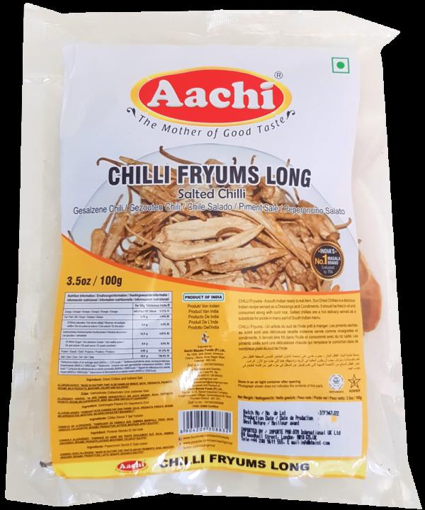 Aachi Fryums Long Salted Chilli - Asijah Europe