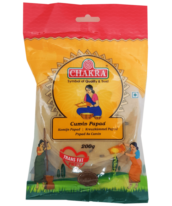 Chakra Cumin Papad - Asijah Europe