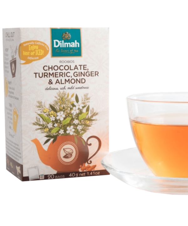 Dilmah Chocolate Turmeric Ginger & Almond Tea - Asijah Europe