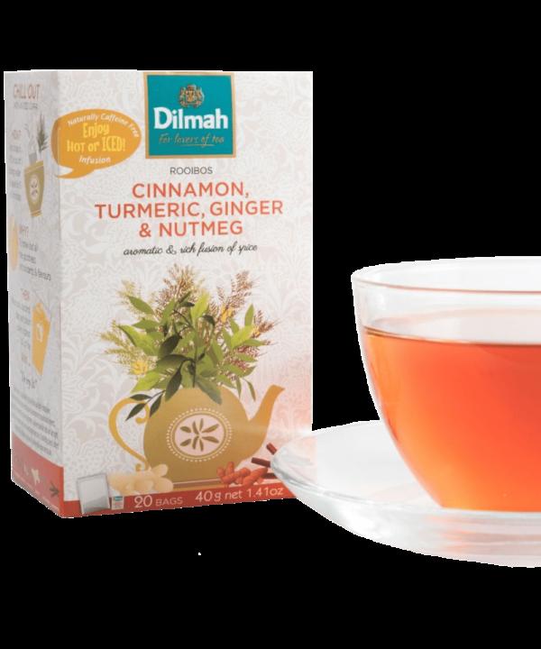 Dilmah Cinnamon Turmeric Ginger & Nutmeg Tea - Asijah Europe