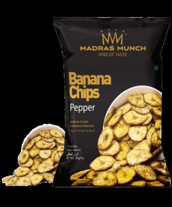 Madras Munch Banana Chips Pepper - Asijah Europe