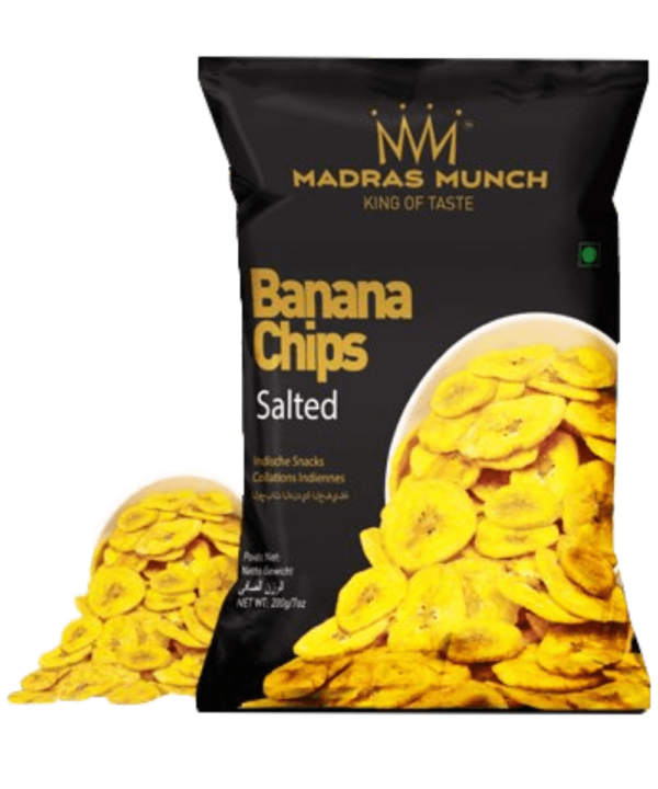 Madras Munch Banana Chips Salted - Asijah Europe