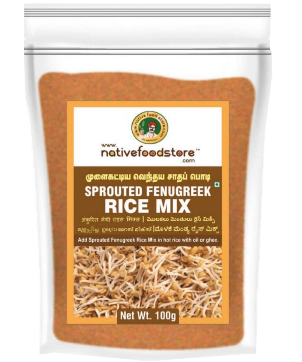 Native Food Store Sprouted Fenugreek Rice Mix - Asijah Europe