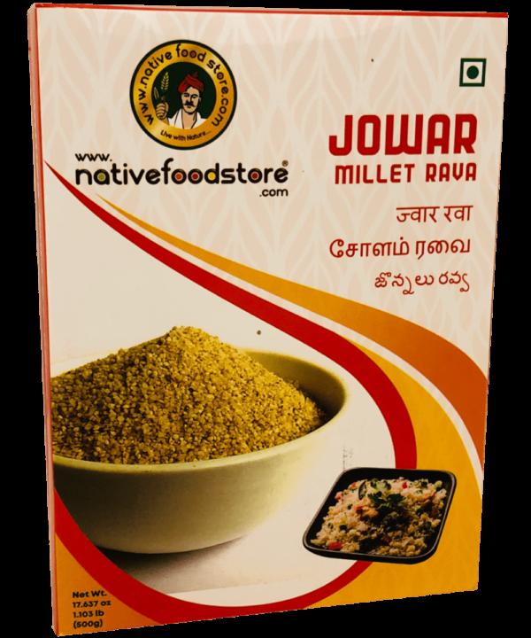 Native Food Store Jowar Millet Rava - Asijah Europe