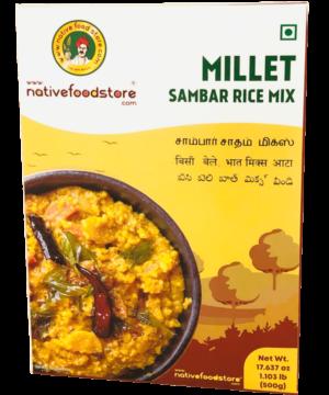 Native Food Store Millet Sambar Rice Mix - Asijah Europe