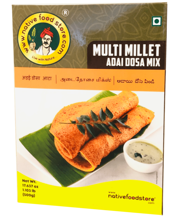Native Food Store Multi Millet Adai Dosa Mix - Asijah Europe
