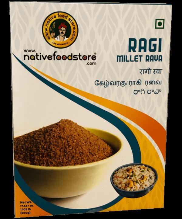 Native Food Store Ragi Millet Rava - Asijah Europe