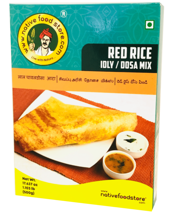 Native Food Store Red Rice Idly/Dosa Mix - Asijah Europe
