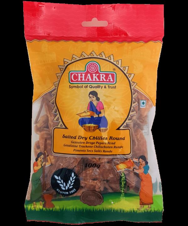 Chakra Salted Dry Chillies Round - Asijah Europe