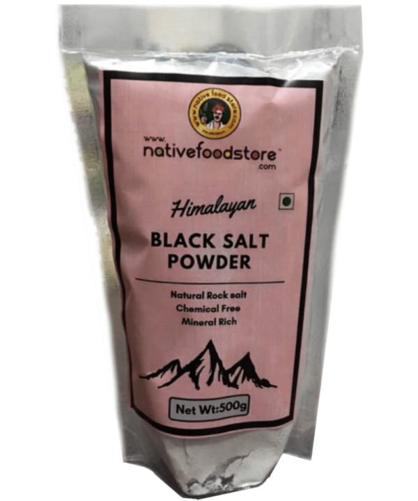Native Food Store Black Rock Salt Powder - Asijah Europe