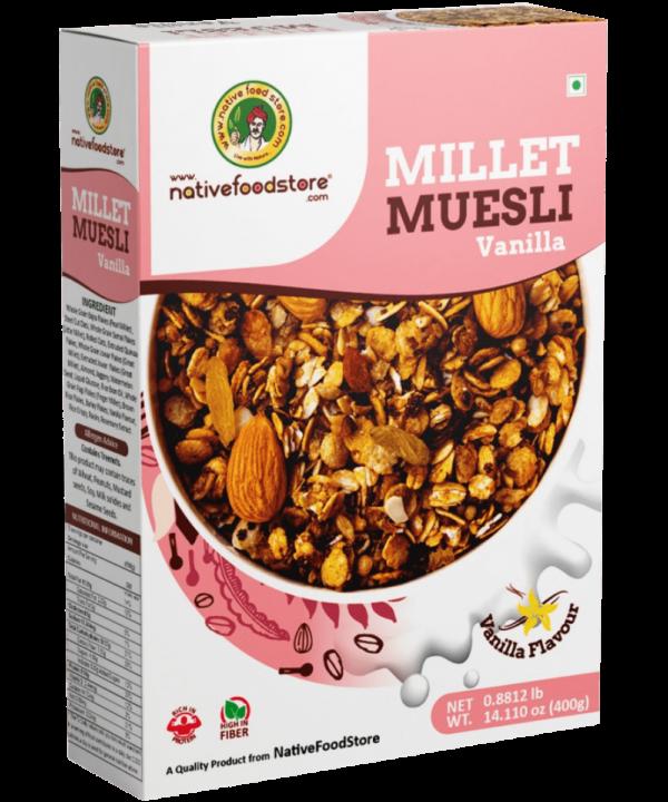 Native Food Store Millet Muesli Vanilla - Asijah Europe